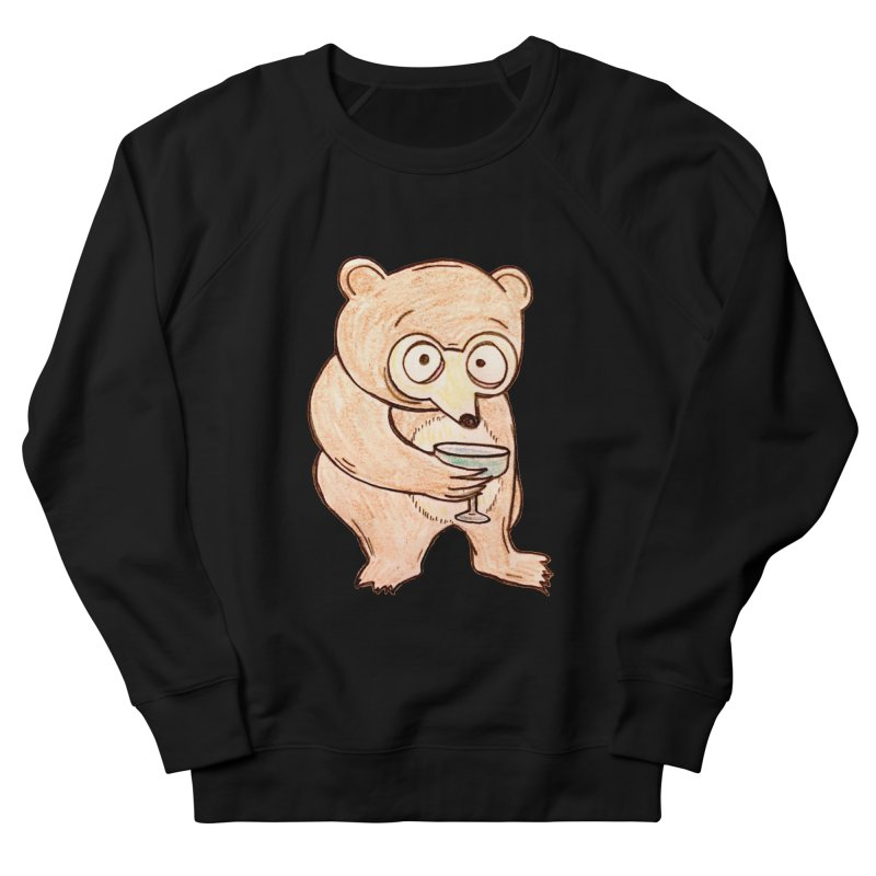 Sad Bear Margarita Men's French Terry Sweatshirt by The Gummy Arts Shop