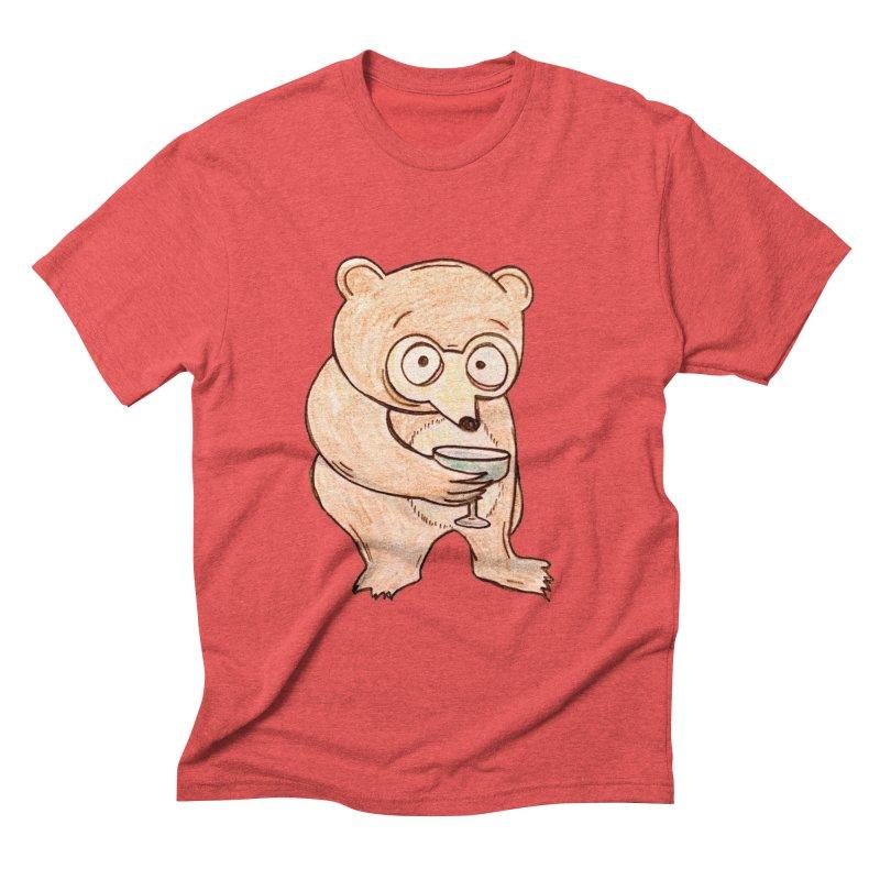 Sad Bear Margarita Men's Triblend T-Shirt by The Gummy Arts Shop