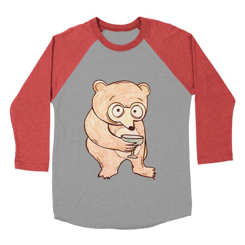 Sad Bear Margarita Women's Baseball Triblend Longsleeve T-Shirt by The Gummy Arts Shop
