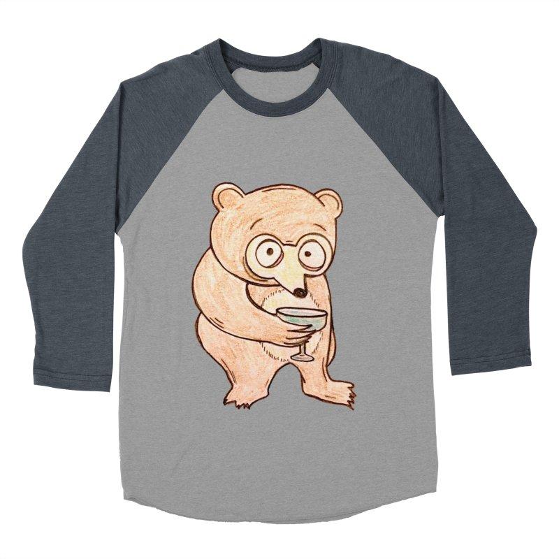Sad Bear Margarita Women's Baseball Triblend T-Shirt by The Gummy Arts Shop