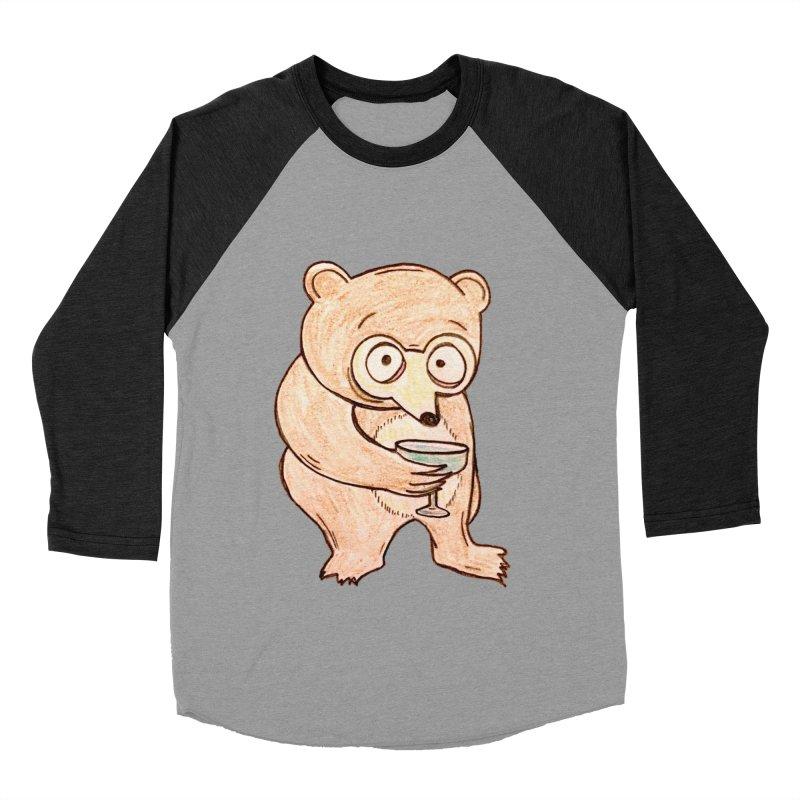 Sad Bear Margarita Men's Baseball Triblend T-Shirt by The Gummy Arts Shop