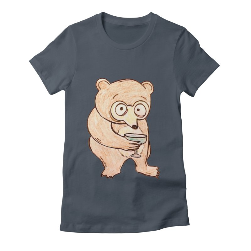 Sad Bear Margarita Women's Fitted T-Shirt by The Gummy Arts Shop
