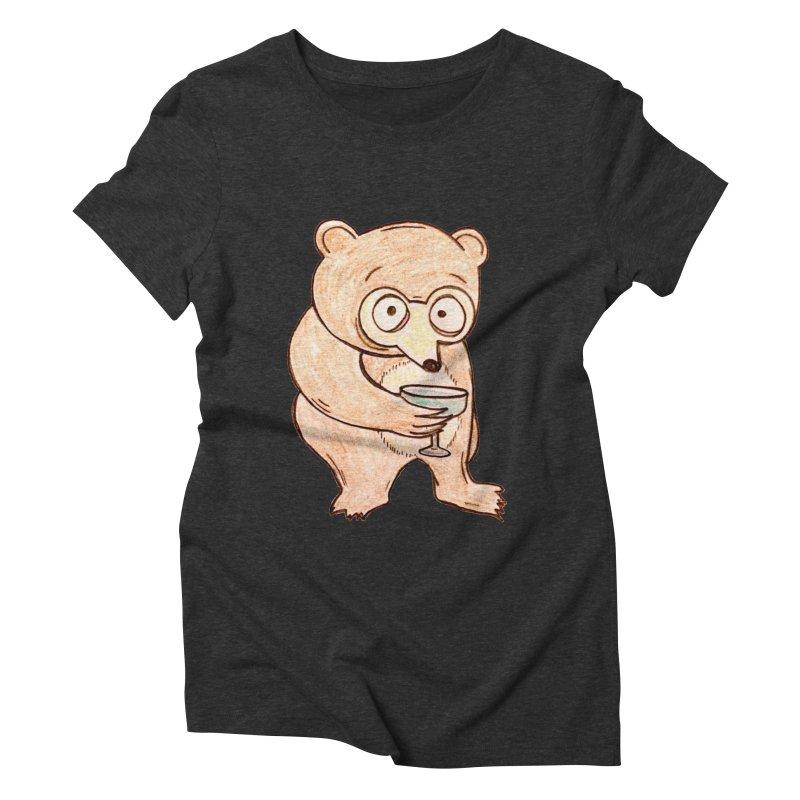 Sad Bear Margarita Women's Triblend T-Shirt by The Gummy Arts Shop