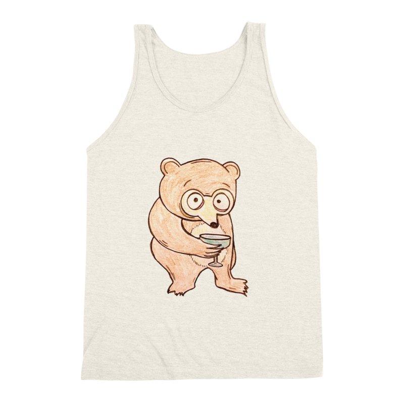 Sad Bear Margarita Men's Triblend Tank by The Gummy Arts Shop