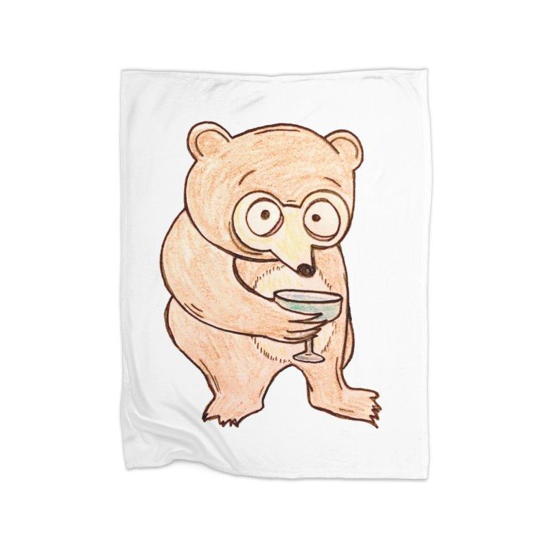 Sad Bear Margarita Home Blanket by The Gummy Arts Shop