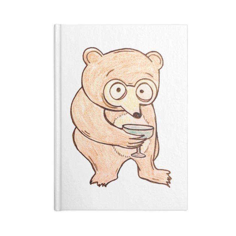 Sad Bear Margarita Accessories Notebook by The Gummy Arts Shop