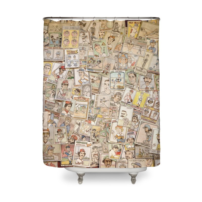 Card Collage 2 Home Shower Curtain by The Gummy Arts Shop