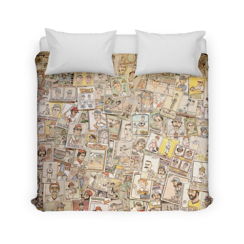 Card Collage 2 Home Duvet by The Gummy Arts Shop