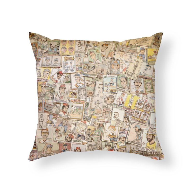 Card Collage 2 Home Throw Pillow by The Gummy Arts Shop