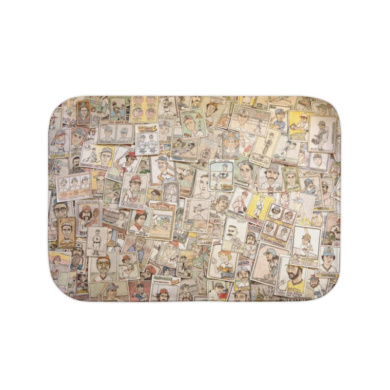 Card Collage 2 Home Bath Mat by The Gummy Arts Shop