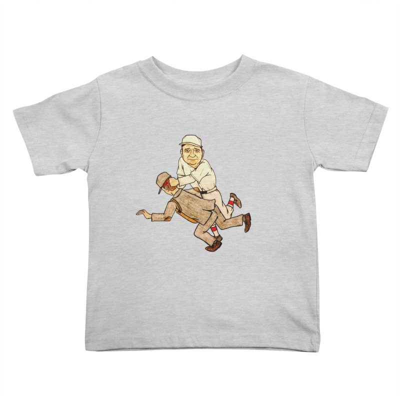 Babe Ruth vs Brick Owens, 1917 Kids Toddler T-Shirt by The Gummy Arts Shop