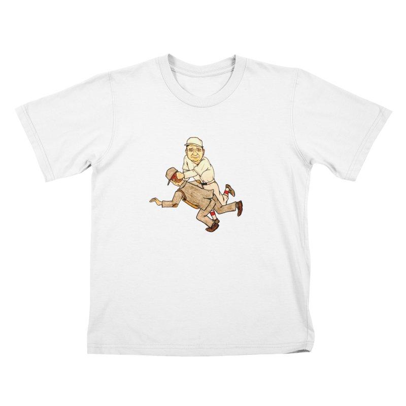 Babe Ruth vs Brick Owens, 1917 Kids T-Shirt by The Gummy Arts Shop