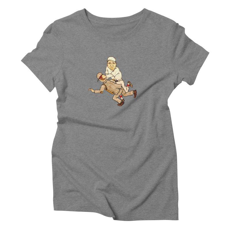 Babe Ruth vs Brick Owens, 1917 Women's Triblend T-Shirt by The Gummy Arts Shop