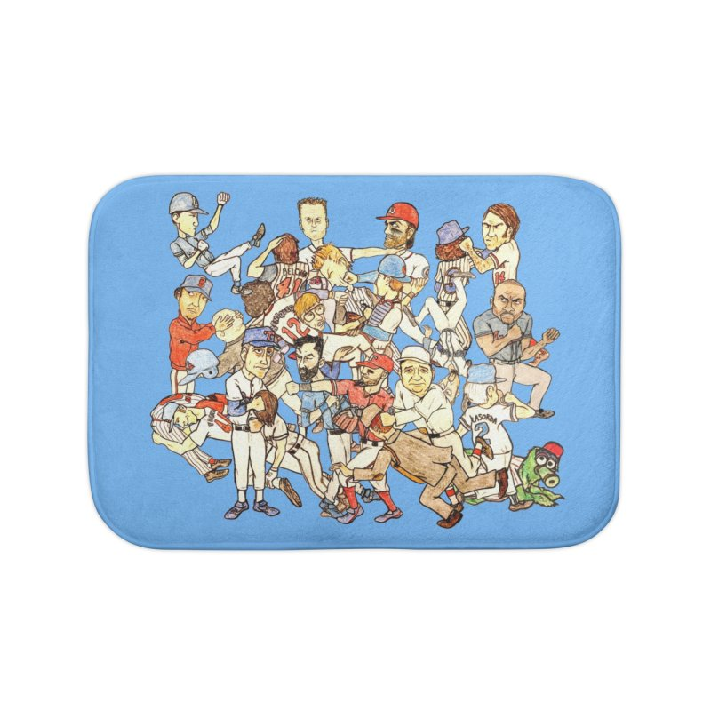 Greatest Baseball Fights Home Bath Mat by The Gummy Arts Shop