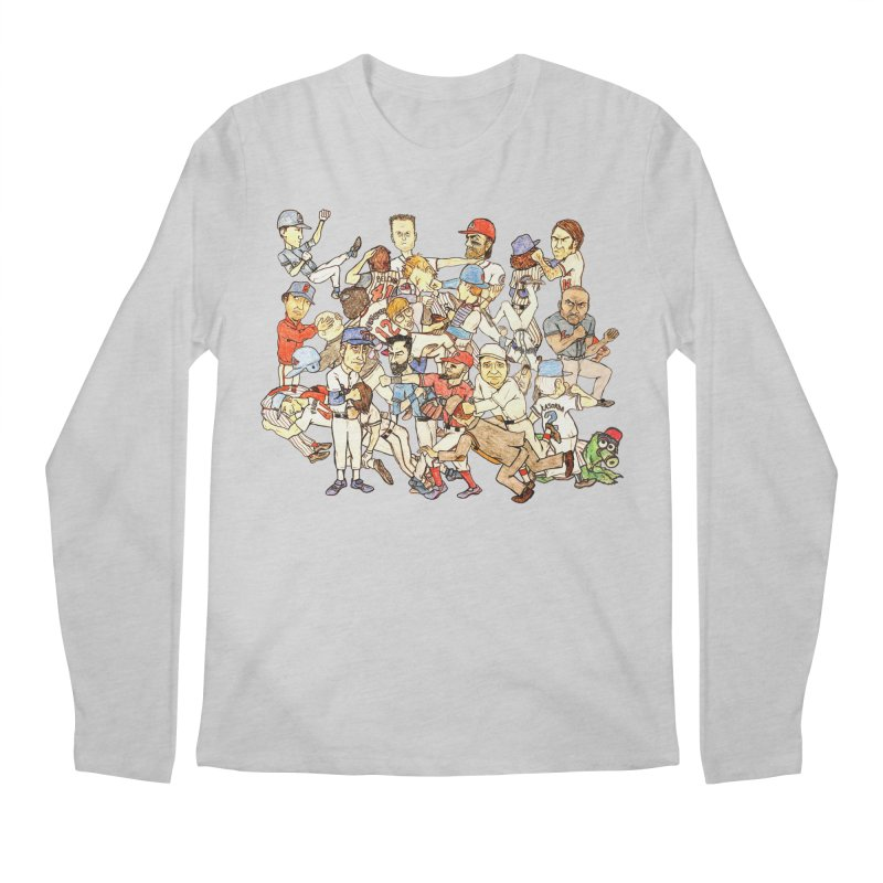 Greatest Baseball Fights Men's Longsleeve T-Shirt by The Gummy Arts Shop