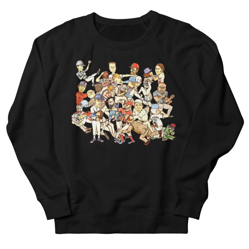 Greatest Baseball Fights Women's French Terry Sweatshirt by The Gummy Arts Shop