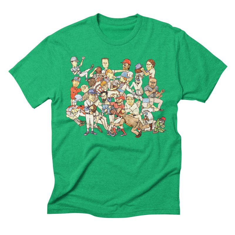 Greatest Baseball Fights Men's Triblend T-Shirt by The Gummy Arts Shop