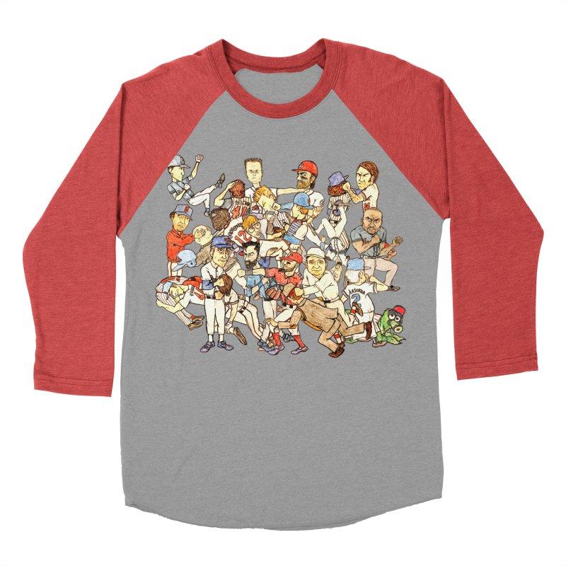 Greatest Baseball Fights Women's Baseball Triblend Longsleeve T-Shirt by The Gummy Arts Shop
