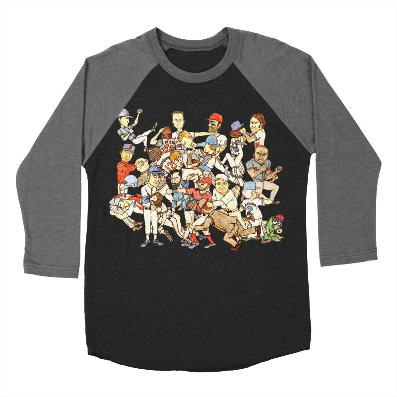 Greatest Baseball Fights Men's Baseball Triblend Longsleeve T-Shirt by The Gummy Arts Shop
