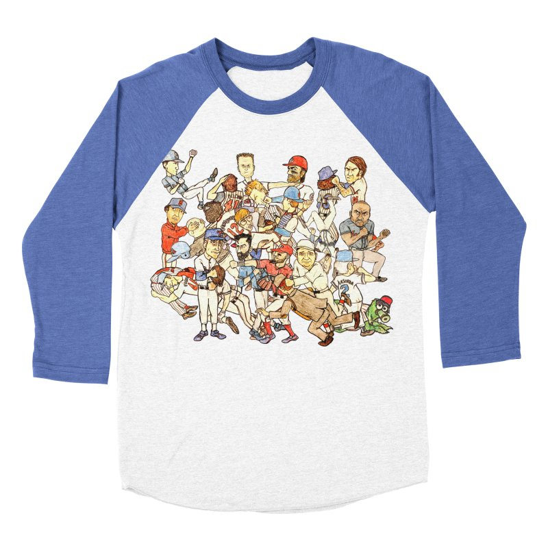 Greatest Baseball Fights Men's Baseball Triblend Longsleeve T-Shirt by The Gummy Arts Shop