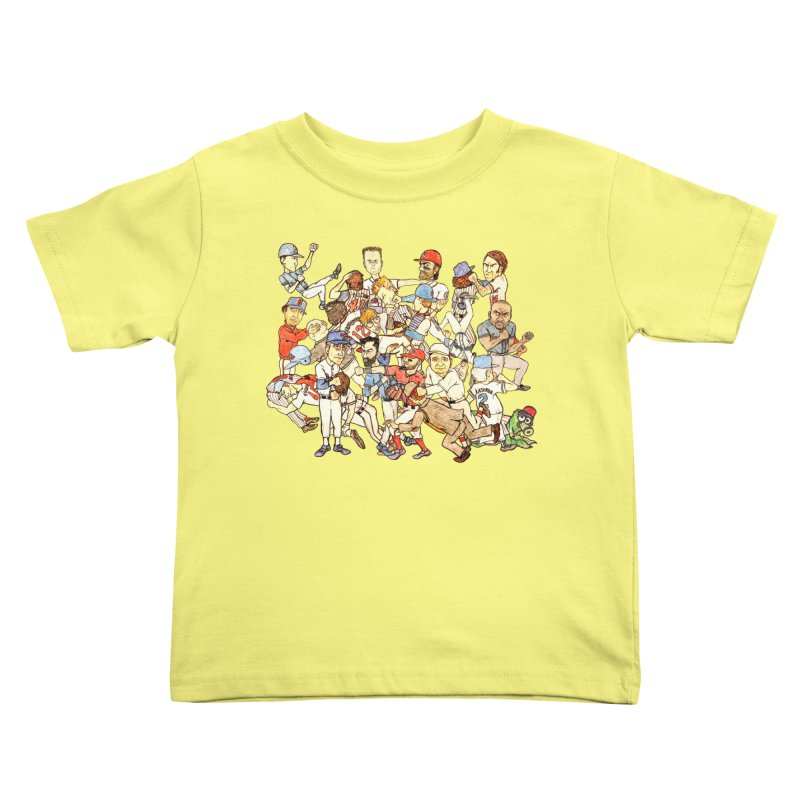 Greatest Baseball Fights Kids Toddler T-Shirt by The Gummy Arts Shop