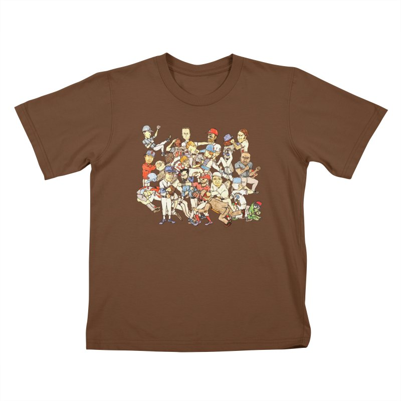 Greatest Baseball Fights Kids T-Shirt by The Gummy Arts Shop