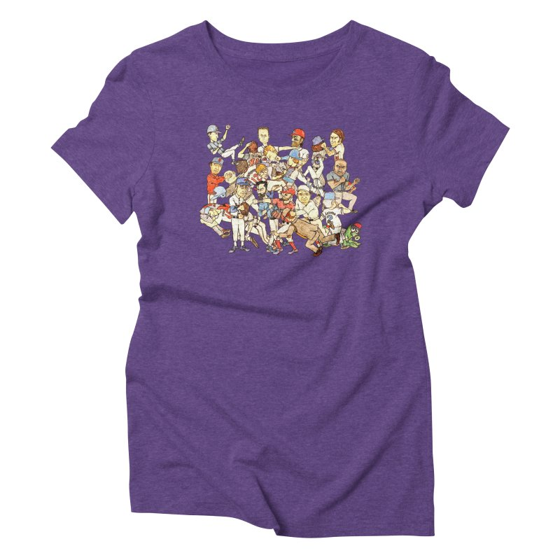Greatest Baseball Fights Women's Triblend T-Shirt by The Gummy Arts Shop