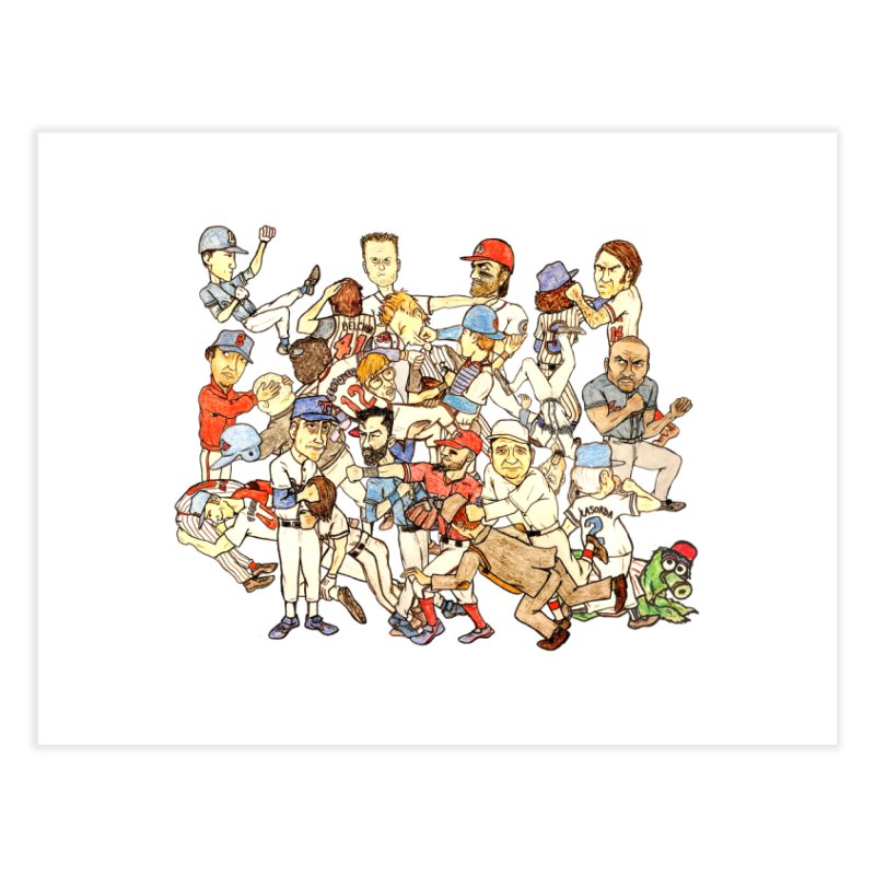 Greatest Baseball Fights Home Fine Art Print by The Gummy Arts Shop