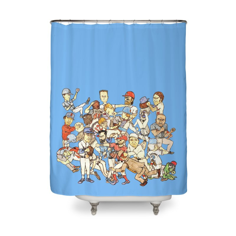 Greatest Baseball Fights Home Shower Curtain by The Gummy Arts Shop