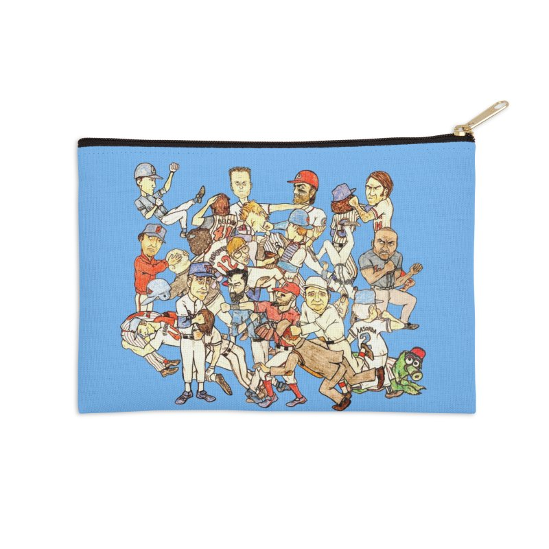 Greatest Baseball Fights Accessories Zip Pouch by The Gummy Arts Shop