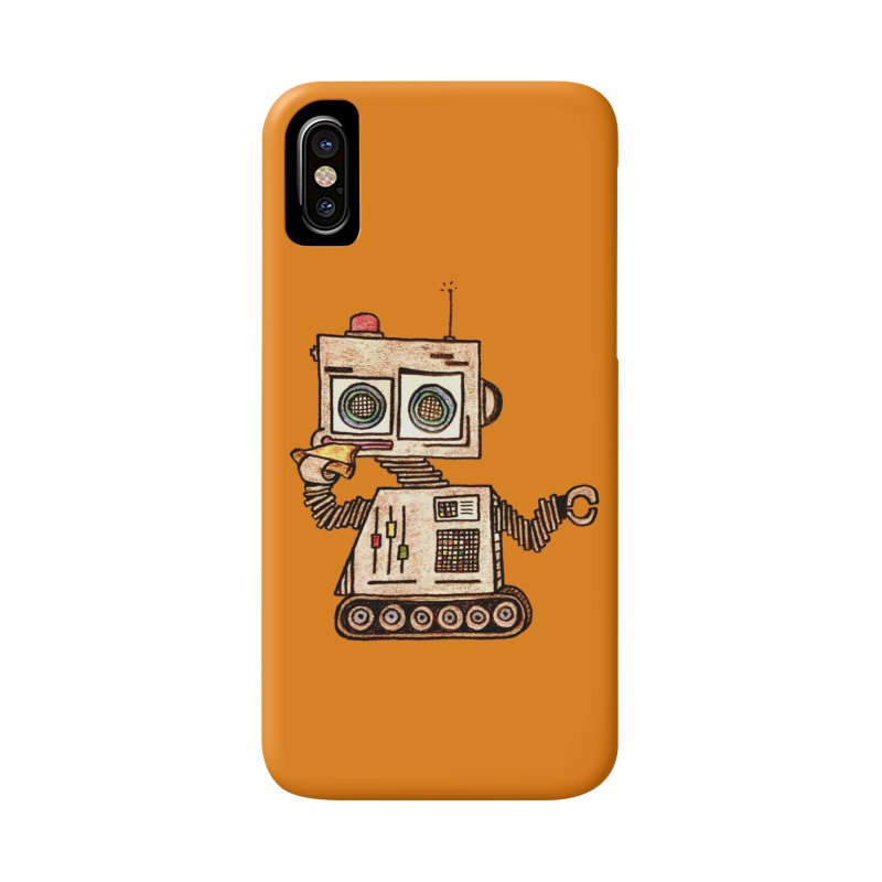 Pizza Robot Accessories Phone Case by The Gummy Arts Shop