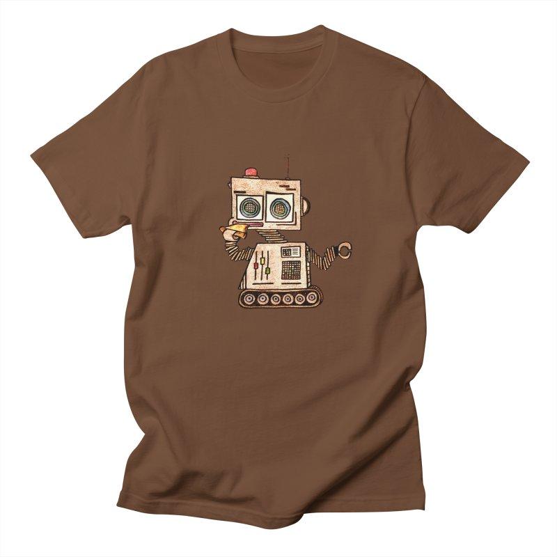 Pizza Robot Women's Unisex T-Shirt by The Gummy Arts Shop