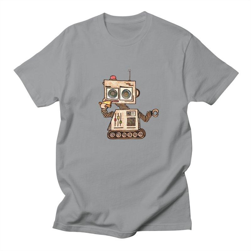 Pizza Robot Women's Regular Unisex T-Shirt by The Gummy Arts Shop