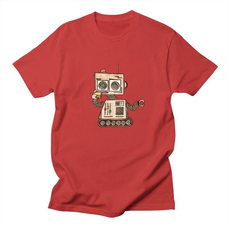 Pizza Robot Men's T-Shirt by The Gummy Arts Shop