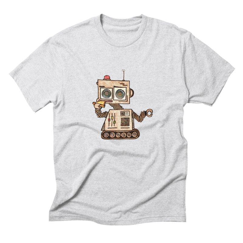 Pizza Robot Men's Triblend T-Shirt by The Gummy Arts Shop