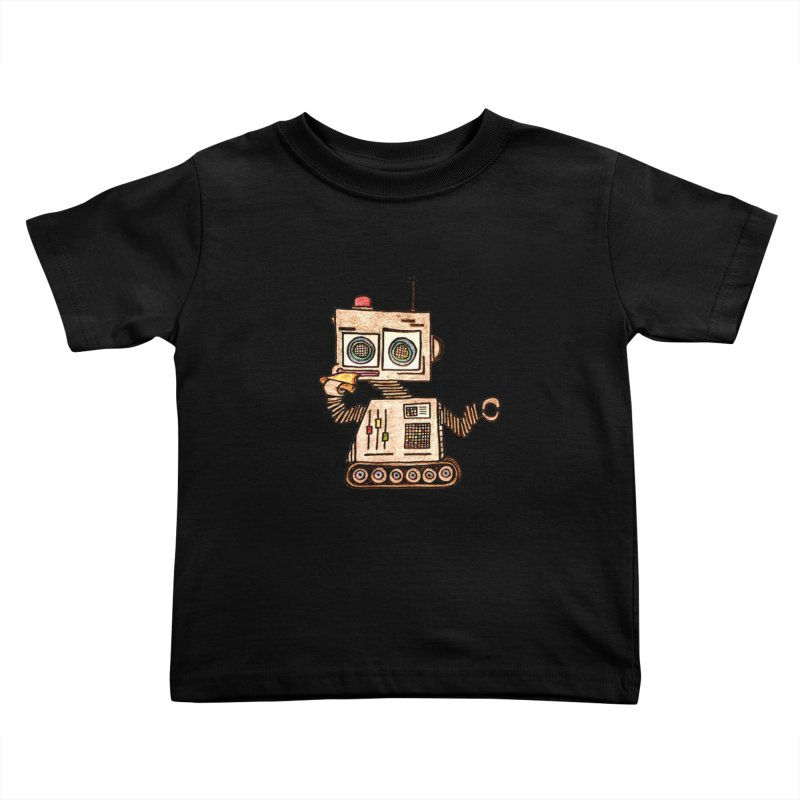 Pizza Robot Kids Toddler T-Shirt by The Gummy Arts Shop