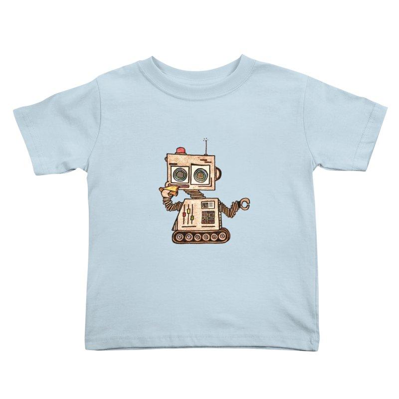 Pizza Robot Kids Toddler T-Shirt by The Gummy Arts Shop
