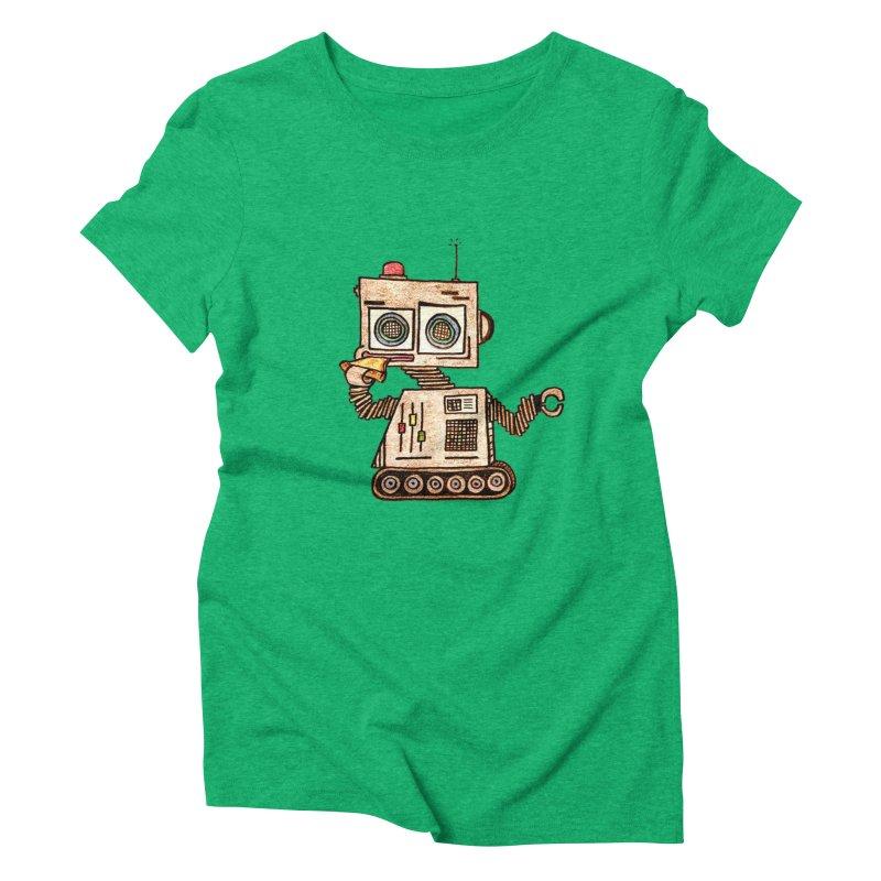 Pizza Robot Women's Triblend T-Shirt by The Gummy Arts Shop