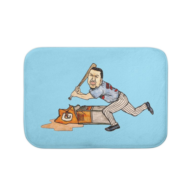 Carlos Zambrano vs Gatorade, 2009 Home Bath Mat by The Gummy Arts Shop