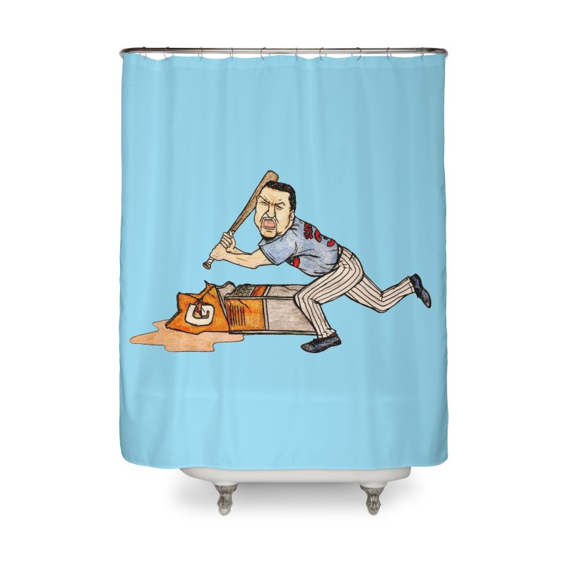Carlos Zambrano vs Gatorade, 2009 Home Shower Curtain by The Gummy Arts Shop