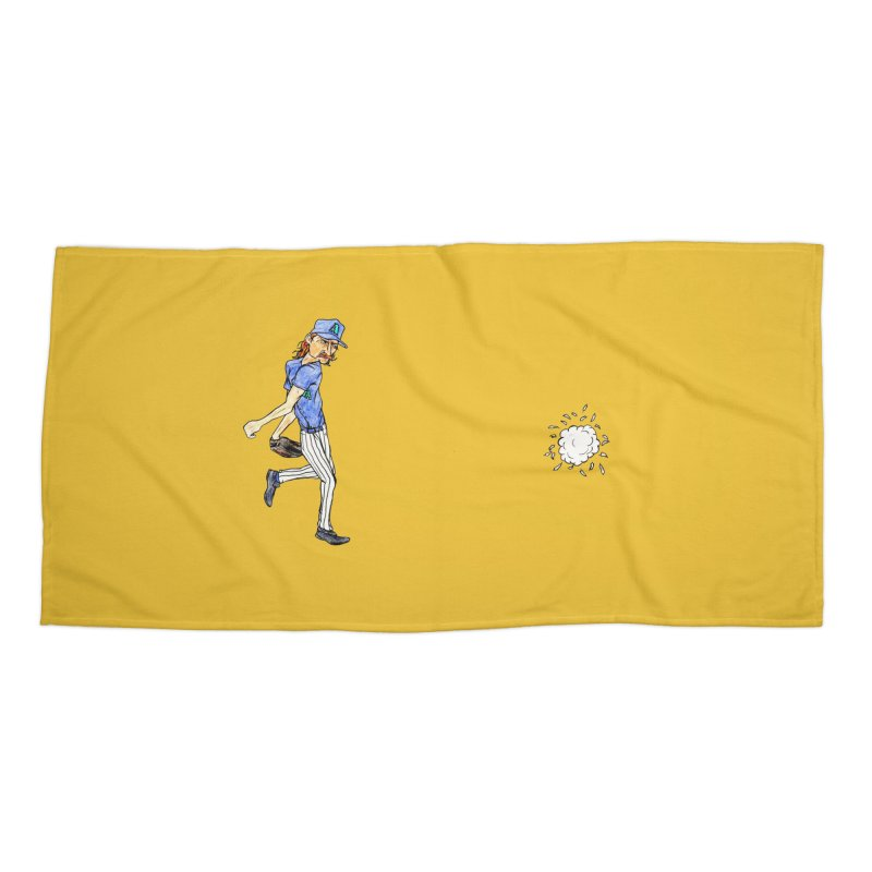 Randy Johnson vs Bird, 2001 Accessories Beach Towel by The Gummy Arts Shop