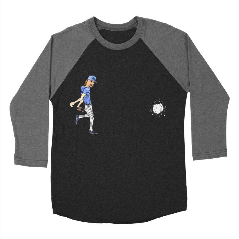 Randy Johnson vs Bird, 2001 Men's Baseball Triblend T-Shirt by The Gummy Arts Shop