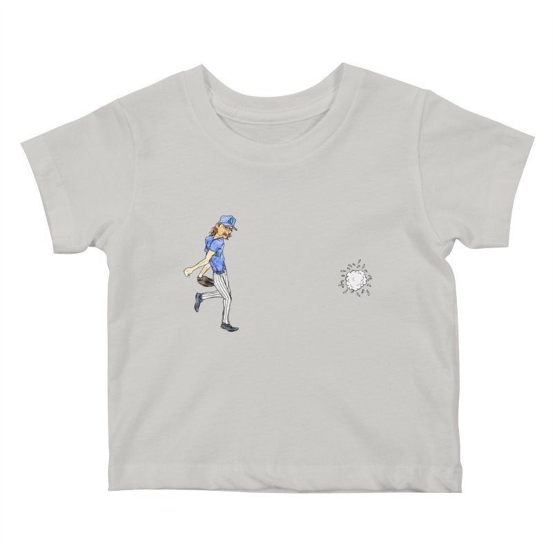 Randy Johnson vs Bird, 2001 Kids Baby T-Shirt by The Gummy Arts Shop