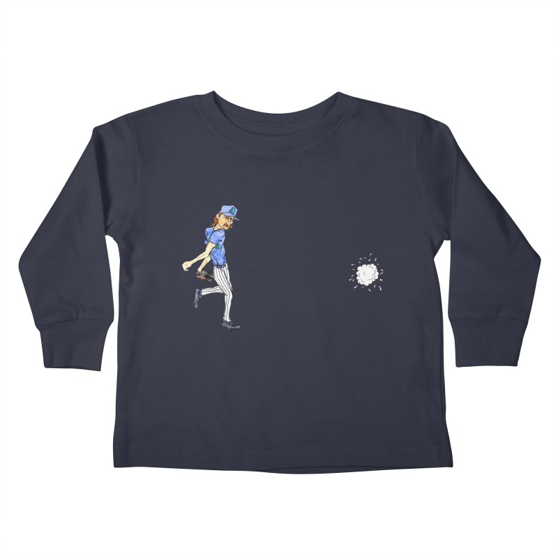 Randy Johnson vs Bird, 2001 Kids Toddler Longsleeve T-Shirt by The Gummy Arts Shop