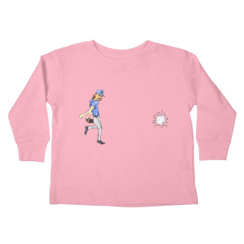 Randy Johnson vs Bird, 2001 Kids Toddler Longsleeve T-Shirt by The Gummy Arts Shop
