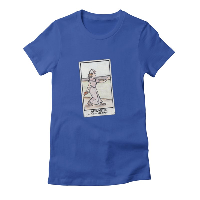 Alta Weiss Women's Fitted T-Shirt by The Gummy Arts Shop