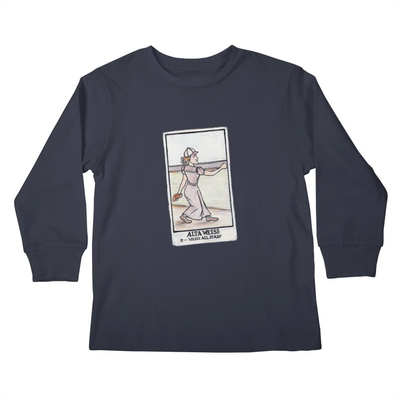 Alta Weiss Kids Longsleeve T-Shirt by The Gummy Arts Shop
