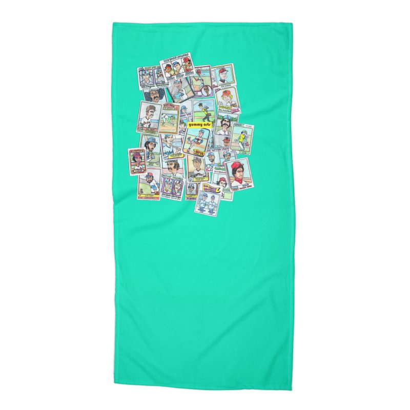 Baseball Cards Accessories Beach Towel by The Gummy Arts Shop