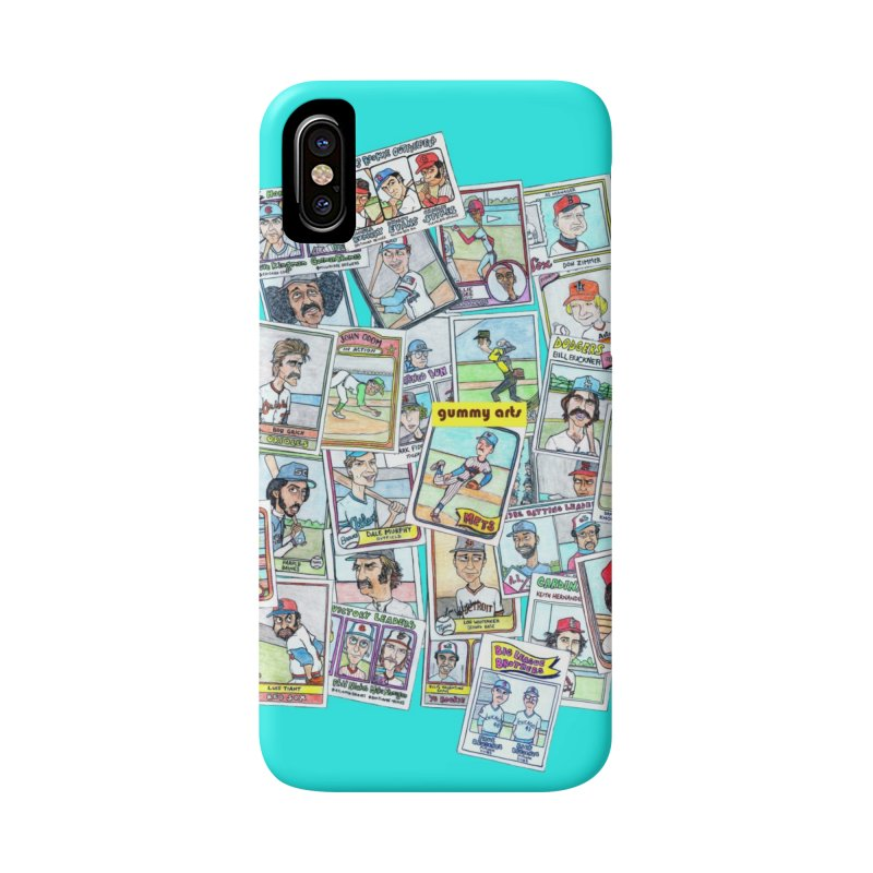 Baseball Cards Accessories Phone Case by The Gummy Arts Shop