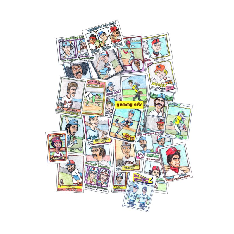 Baseball Cards None  by The Gummy Arts Shop